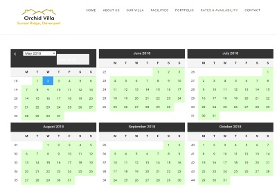 Easily updatable villa rental calendar